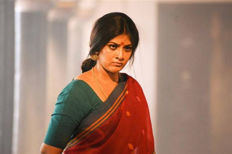 "Varalaxmi Sarathkumar new stills from ""Sandakozhi 2"""