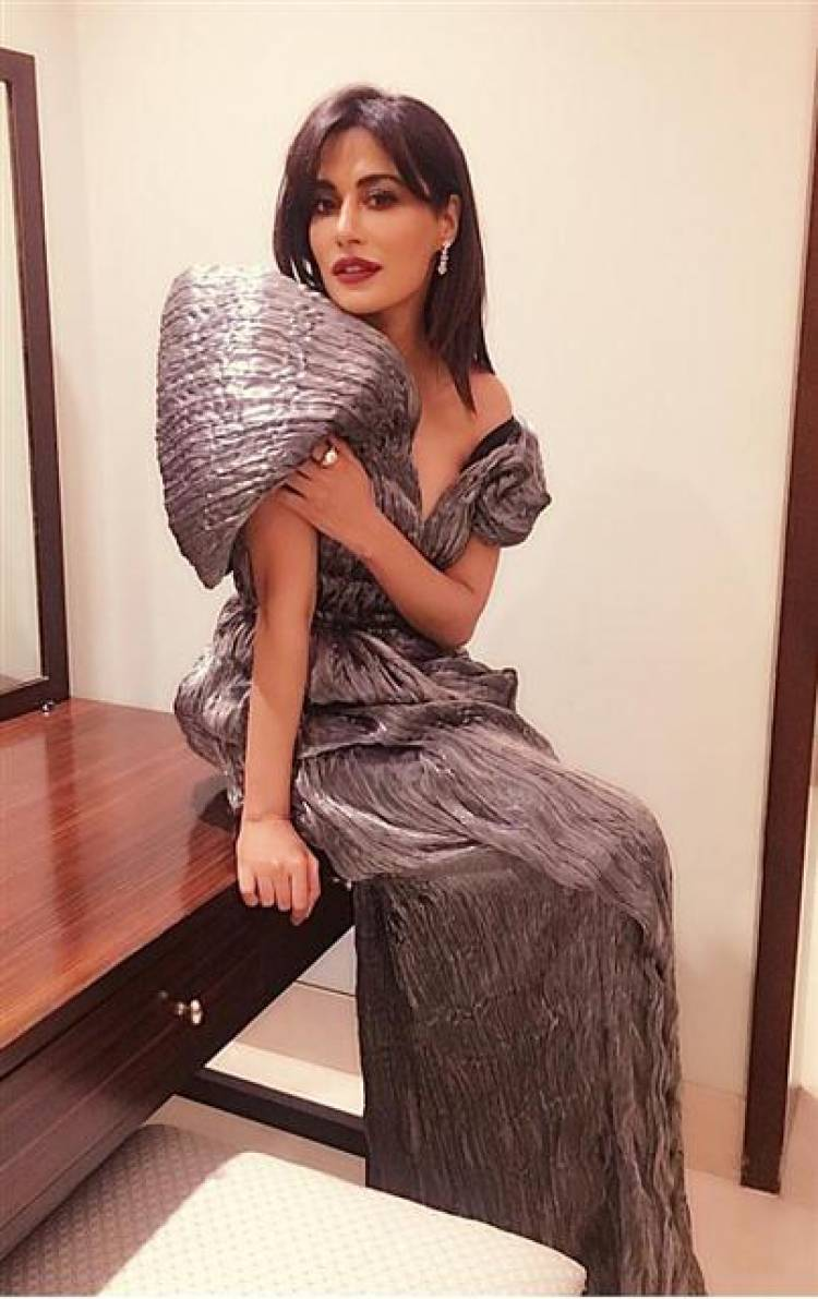 Chitrangda Singh ups the glam quotient in a metallic gown