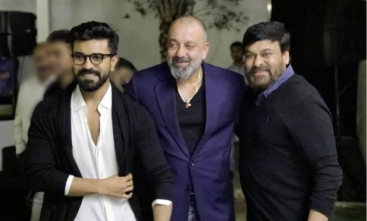Sanjay Dutt and hisJadoo ki Jhappi for Chiranjeevi and Ram Charan!