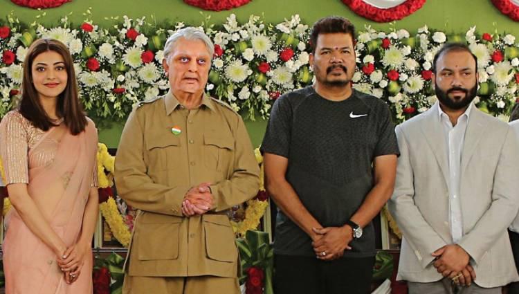 """""""இந்தியன் 2"""" திரைப்படத்தின் படப்பிடிப்பு இன்று பூஜையுடன் துவங்கியது"""