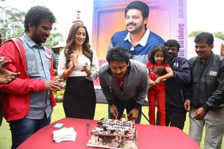 Actor Srikanth Birthday Celebration Stills at Miruga Shooting Spot