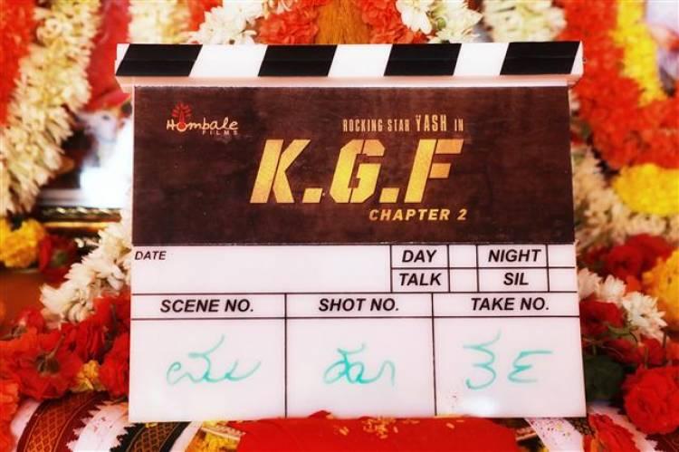 """""""KGF Chapter 2"""" Movie Pooja Stills"""