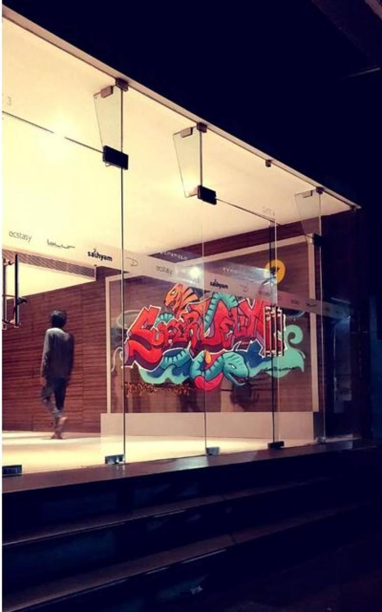 Super Deluxe Graffiti installation Stills