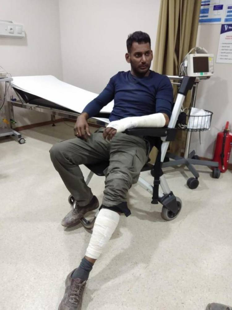 Vishal tossed from four wheeler bike and was severely injured