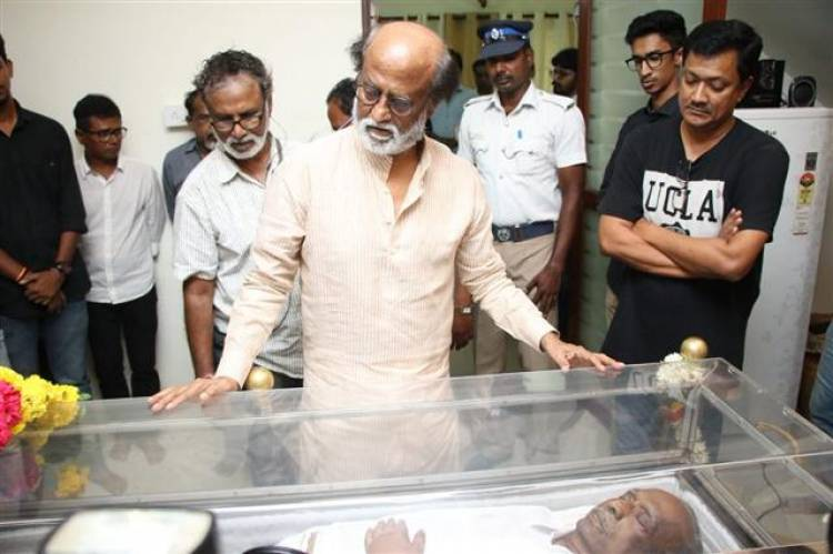 Actor Rajinikanth visited Late director Mahendran's house