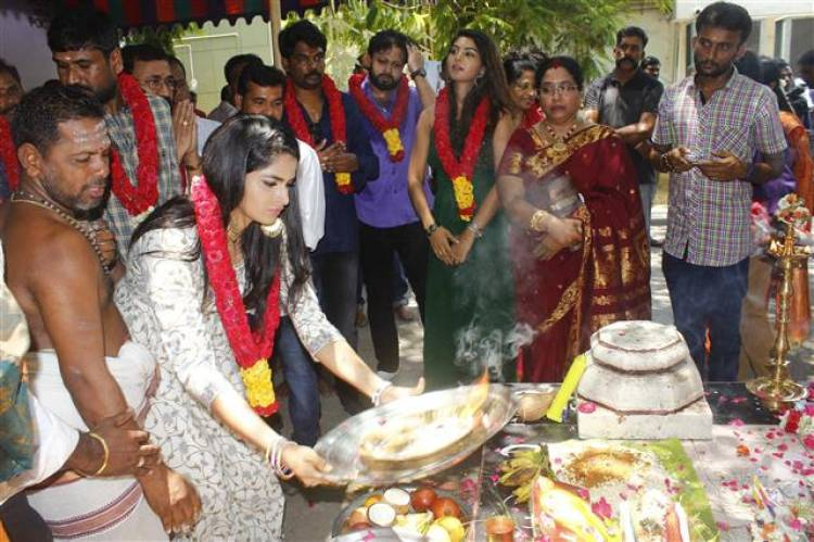 """""""Ennai Sudum Pani"""" Movie Pooja Stills"""