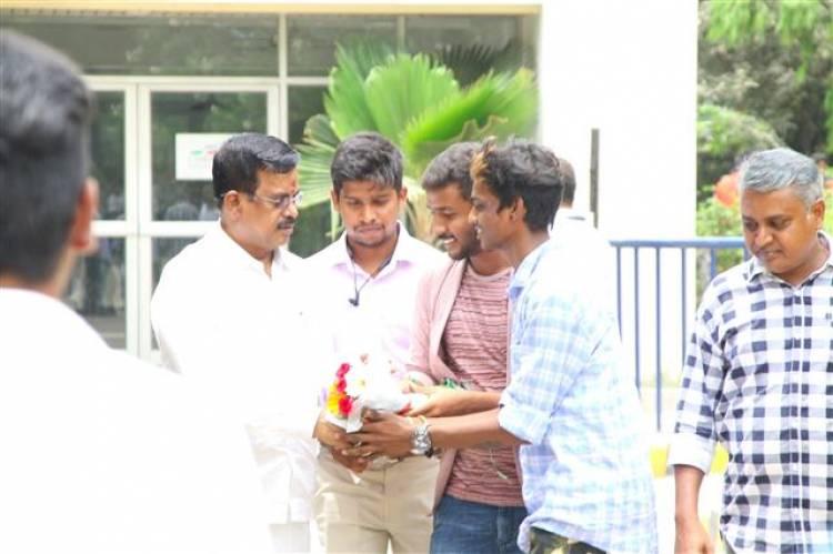 "Cine Shield Creators - ""Production No 1"" Movie Pooja Stills"