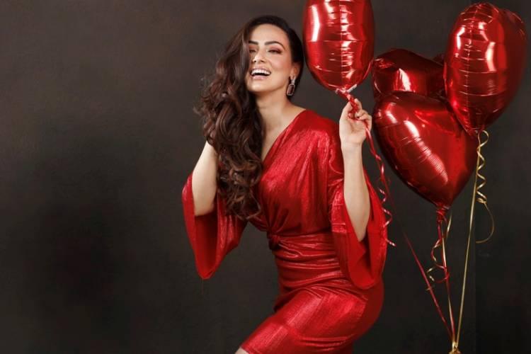 Actress Sana Khan & Ace choreographer spotted in Ashima Sharma outfits for a Calendar Shoot