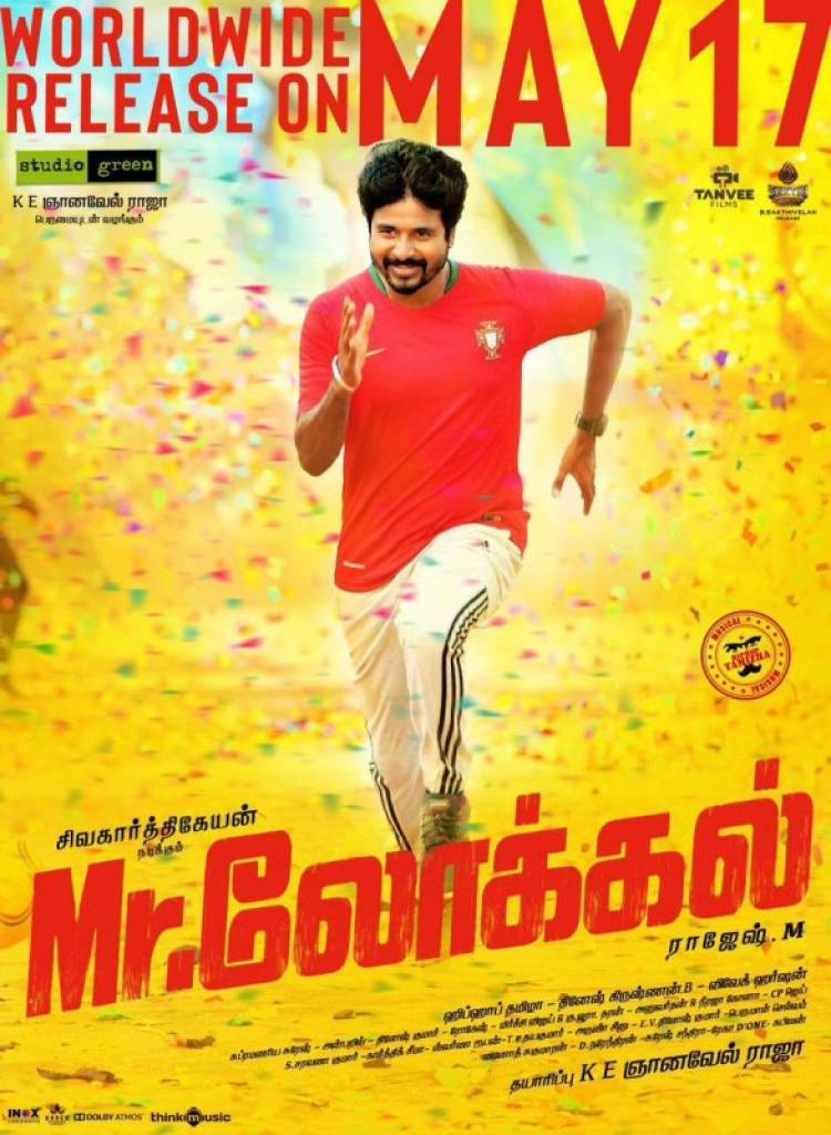 "Sivakarthikeyan's ""Mr Local"" release  poster"