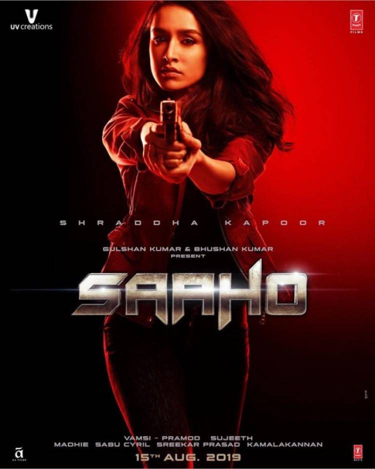 Shraddha Kapoor First Look Poster from SAAHO