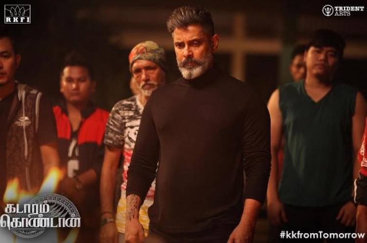 Making stills of Chiyaan Vikram's Kadaram Kondam