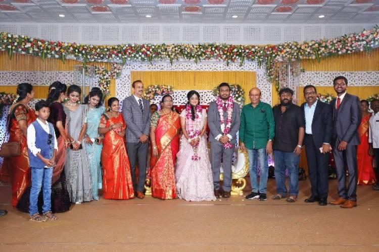 Actor Charlie elder Son Adhithiya Charlie weds Amritha reception Photos
