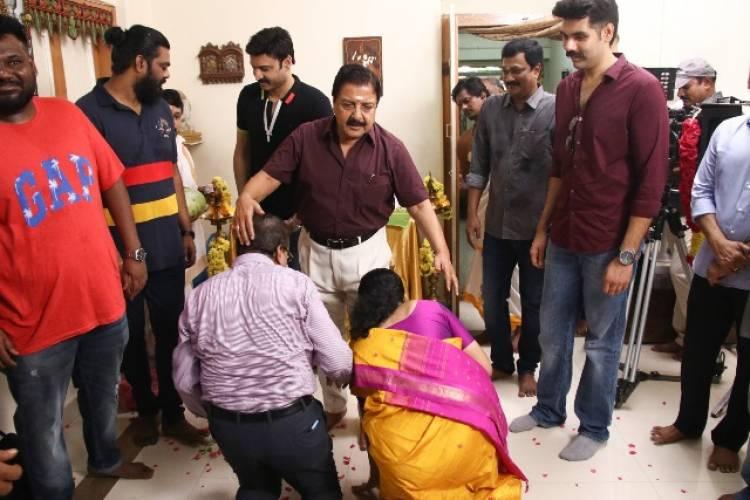 சிபிராஜ் நடிக்கும் 'கபடதாரி' படப்பிடிப்பைத் துவக்கி வைத்தார் நடிகர் சிவகுமார்