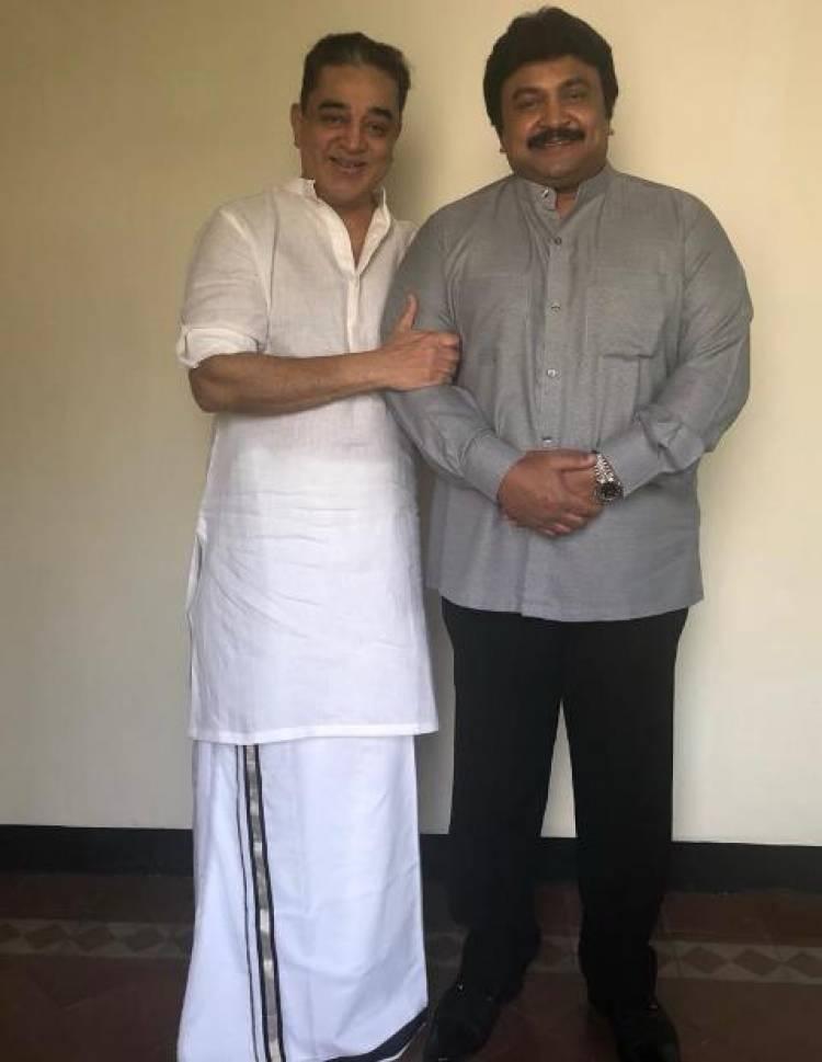Actor Prabhu Wishing Chevalier Kamal Haasan on his 65thBirthday