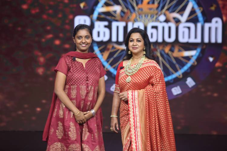 """Witness the dream of Valli Kannu being fulfilled on the first episode of the much-awaited game show """"Kodeeswari"""""""