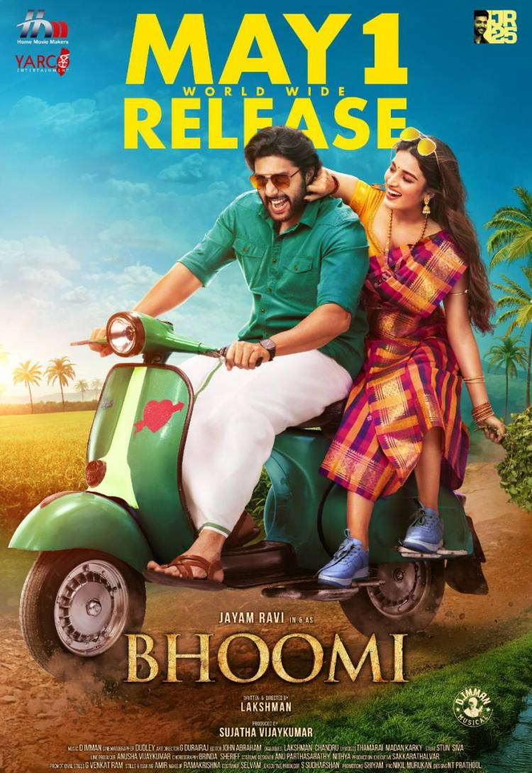 Here is A colourful 2nd Look Poster Of  actorJayamravi's Bhoomi Releasing Worldwide On May 1st!‬