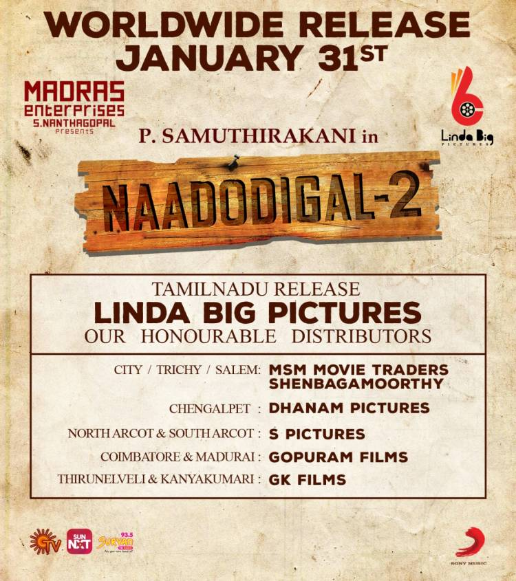 Naadodigal-2 Releasing world wide on 31st January