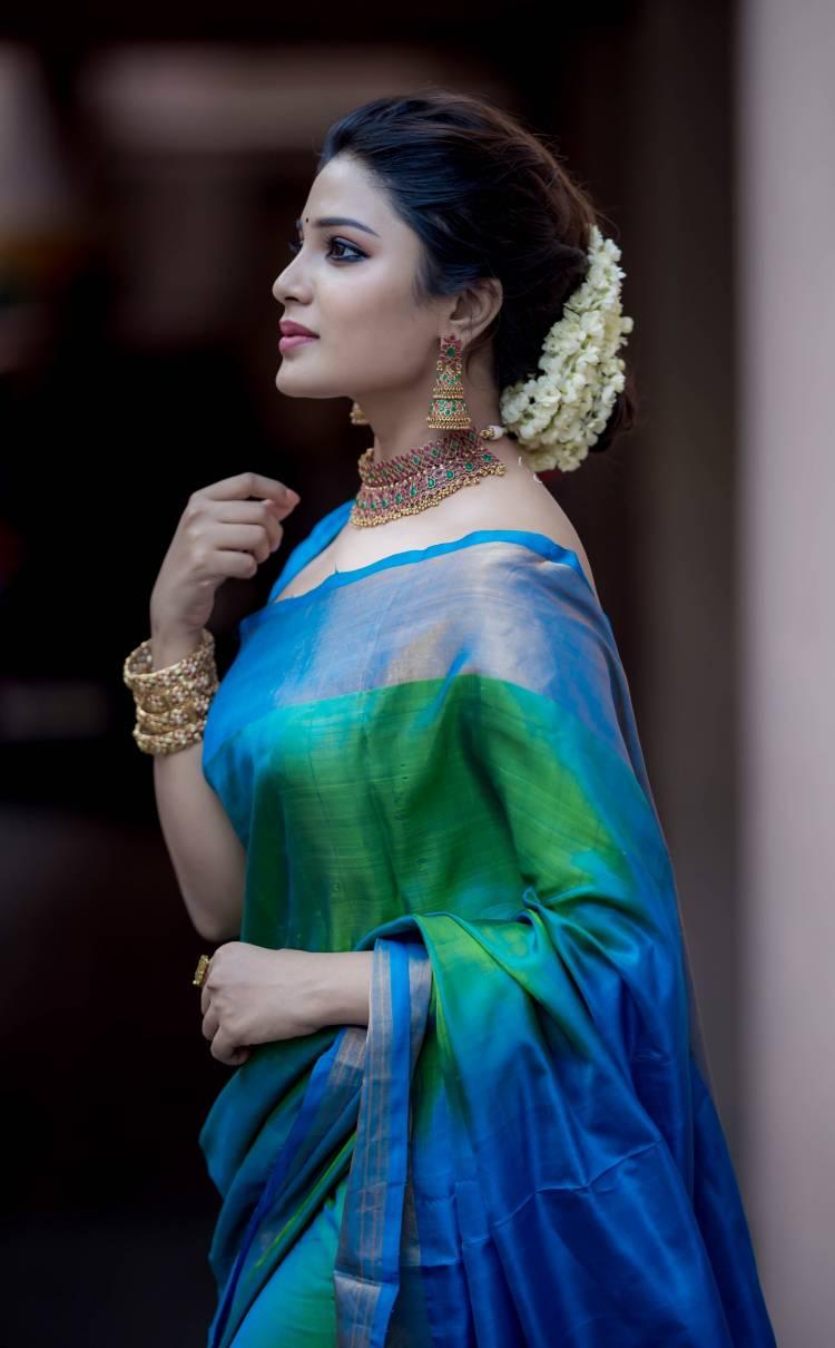 Actress Aathmika Recent Traditional love pics