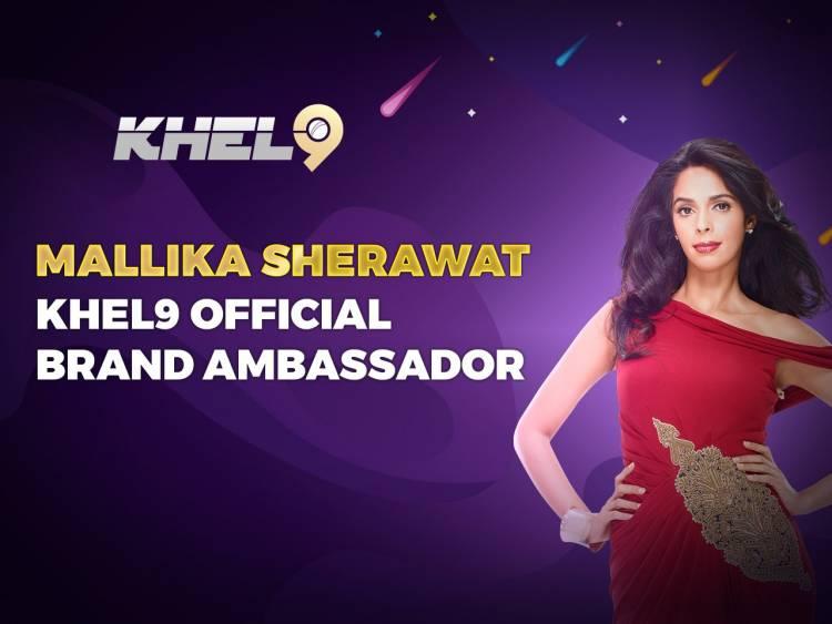 Mallika Sherawat Becomes the First Brand Ambassador for Khel9 - India's Biggest Online Gaming Platform