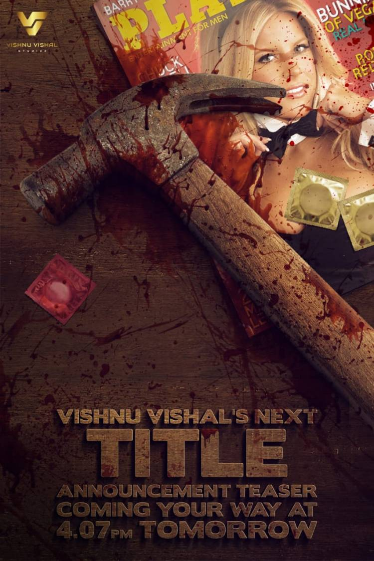 TITLE ANNOUNCEMENT TEASER of Actor Vishnu Vishal next film will be out tomorrow