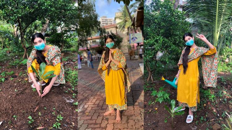 Dadasaheb Phalke Award Winner and Seetimarr actress Digangana Suryavanshi takes up the 'Green India Challenge'