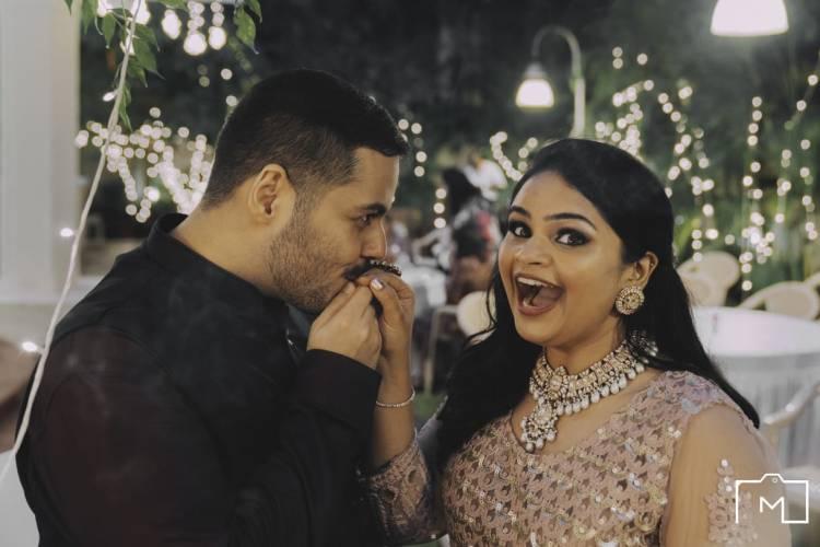 Actor Mohan Raman daughter  Actress Vidyullekha gets engaged to Mr.Sanjay Watwani