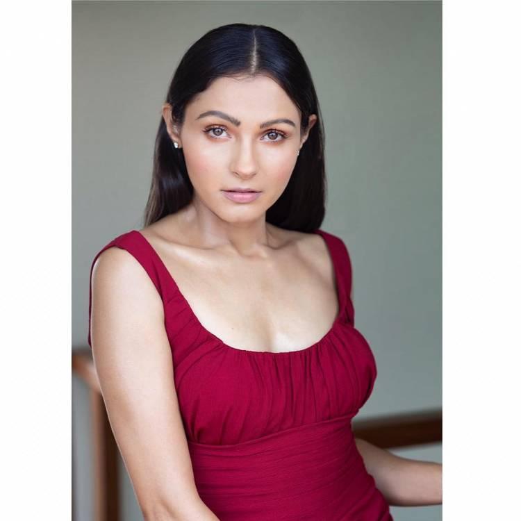Actress Andrea Jeremiah looks ravishing in red