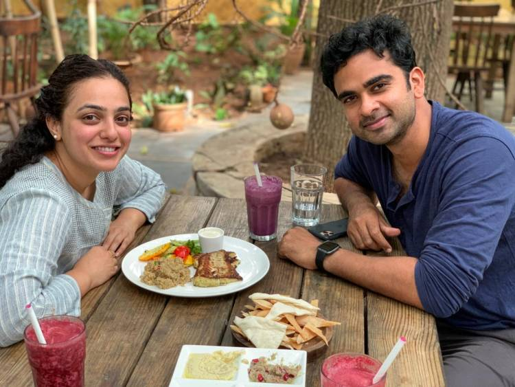 AshokSelvan & MenenNithya share pictures from their next film