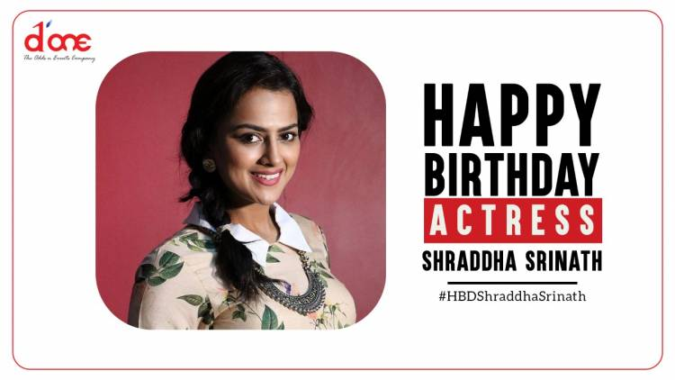 Many more happy returns of the day @ShraddhaSrinath  @DoneChannel1
