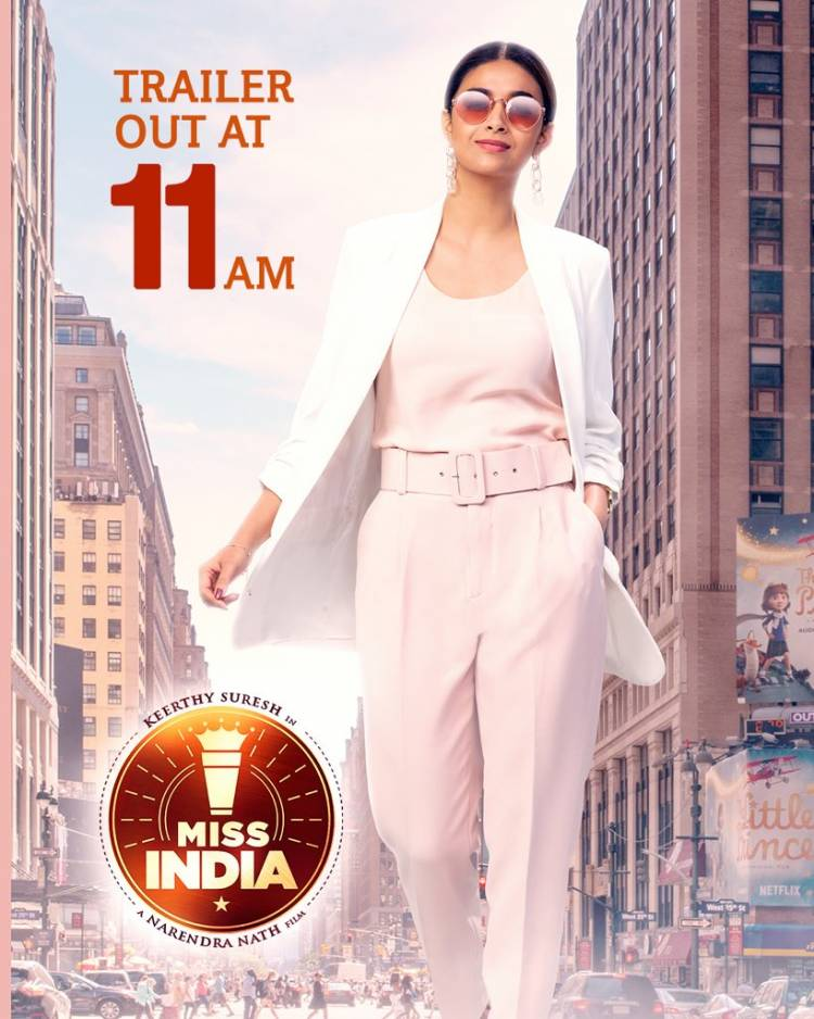 Determination, power suits, and chai go so well together.  #MissIndia to premier on @NetflixIndia