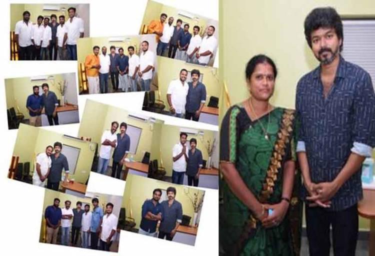ரசிகர் மன்ற நிர்வாகிகளுடன் நடிகர் விஜய் திடீர் ஆலோசனை
