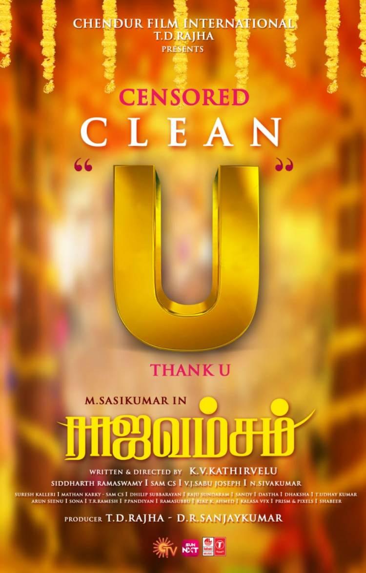 """#Raajavamsam censored with Clean """"U""""."""