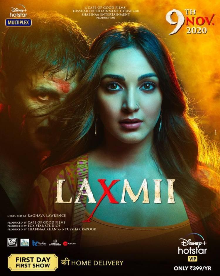 New Poster From #Laxmii !! premieres 9th Nov on @DisneyplusHSVIP.