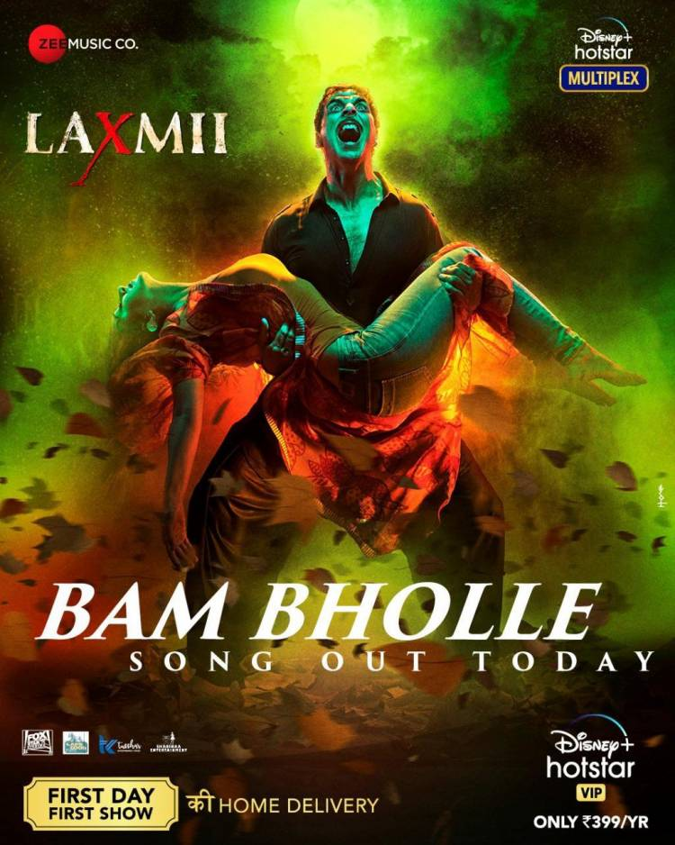 Get ready to witness the explosion today as #Laxmii reveals her new avatar with the most awaited song #BamBholle! Launching soon!