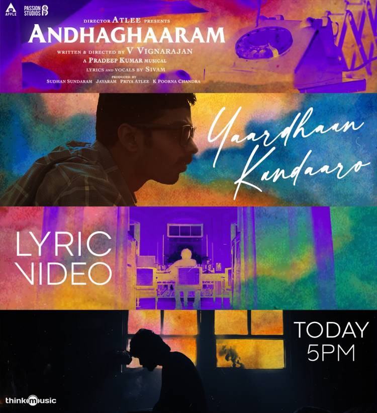 'Yaardhaan Kandaaro' lyric video of #Andhaghaaram from 5 pm today