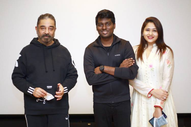 #Andhagaaram team got blessing from  @ikamalhaasan