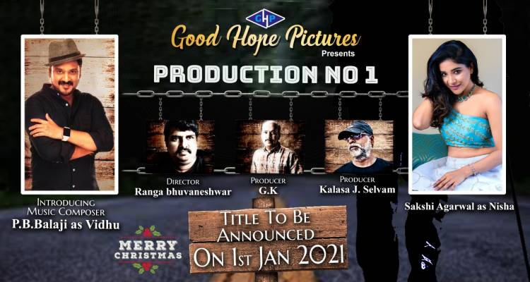 #GoodHopePictures proudly announces its lead actors  @itsmevidhu and @ssakshiagarwal for their #productionno1 on this spl day.