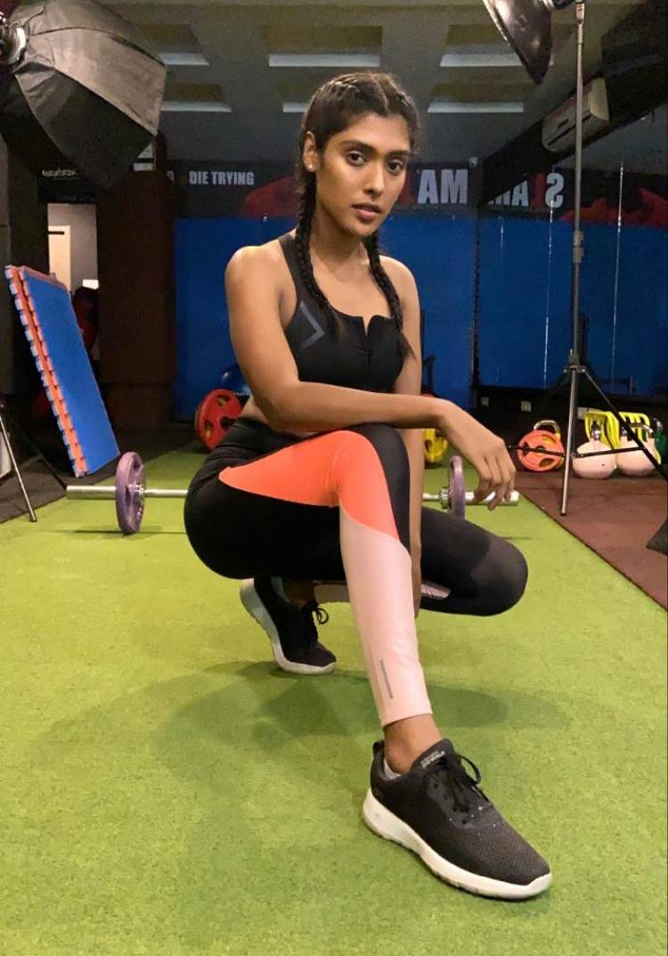 The Unstoppable Bigil Lady #GayathriReddy Goes A Step Ahead In Her Fitness Goals!
