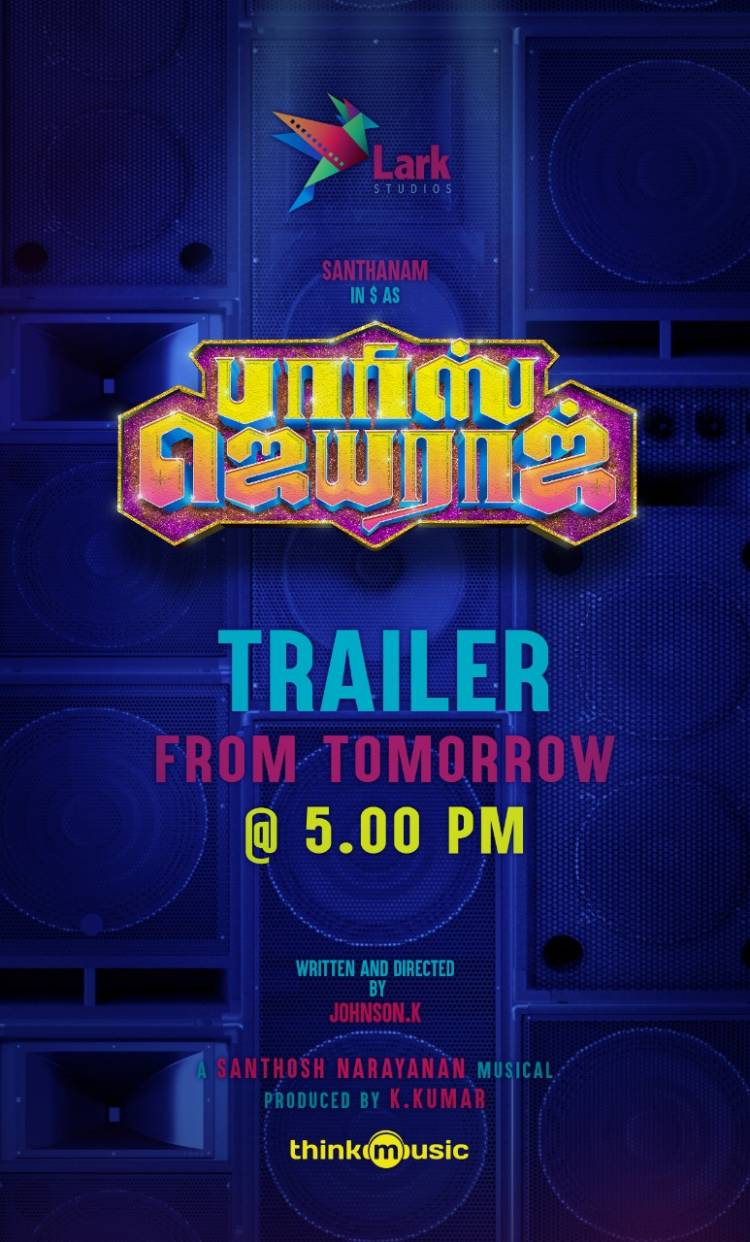 #ParrisJeyaraj trailer will be out tomorrow at 5.00 PM.