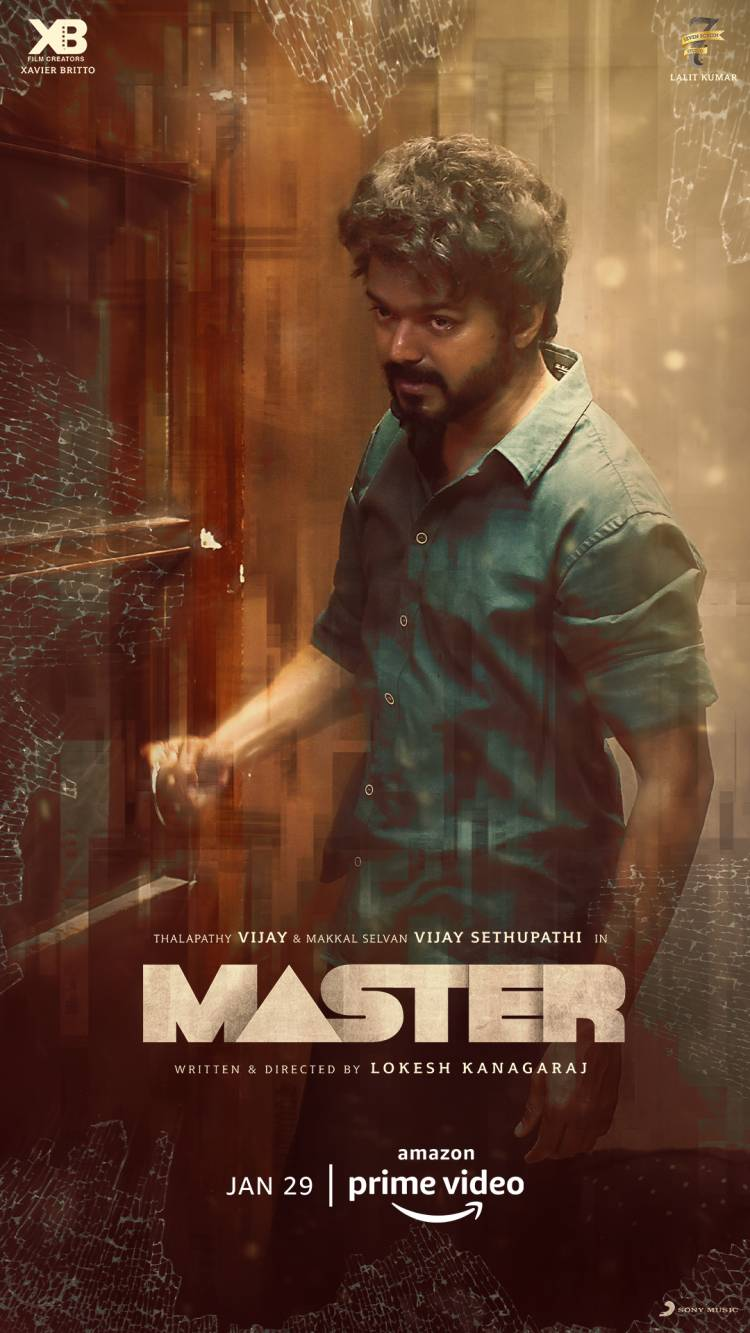 AMAZON PRIME VIDEO ANNOUNCES THE DIGITAL PREMIERE OF TAMIL ACTION THRILLER MASTER - FOR THE 29th OF JANUARY