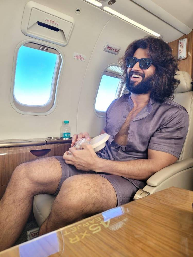 #LIGER @TheDeverakonda lands in his den with Style #Mumbai
