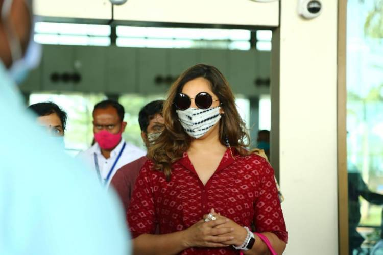 @upasanakonidela lands in Rajahmundry, spotted at airport