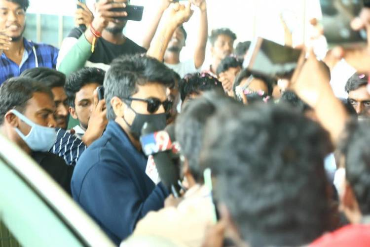 Mega Power Star @AlwaysRamCharan and @upasanakonidela gets a sensational send off as he wraps up a 20 days schedule