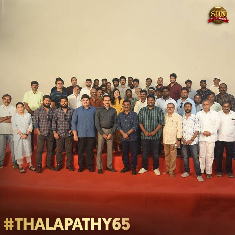 #Thalapathy65Poojai  @actorvijay @sunpictures @Nelsondilpkumar @anirudhofficial @hegdepooja