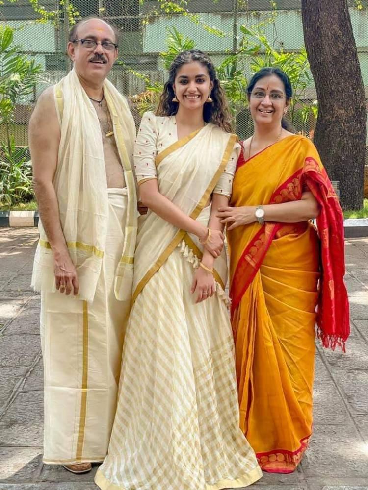 Actress keeethy suresh - A blissful morning after Guruvayur temple darshan