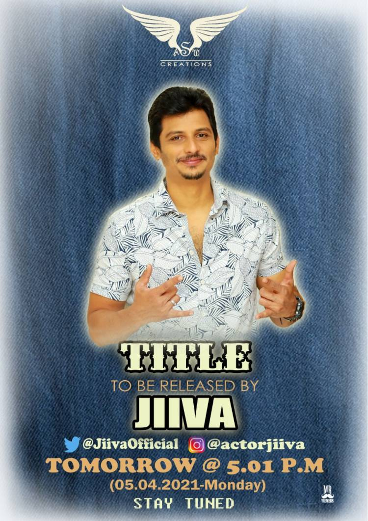 Production #AswCreations Producer #HenriDavidIR Production no 1 Title will be released by @actorjiiva Tomorrow at 5 PM