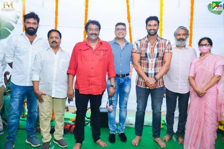 Rajamouli Claps For Muhurtham Shot Of Bellamkonda Sai Sreenivas, VV Vinayak, Pen Studios Film