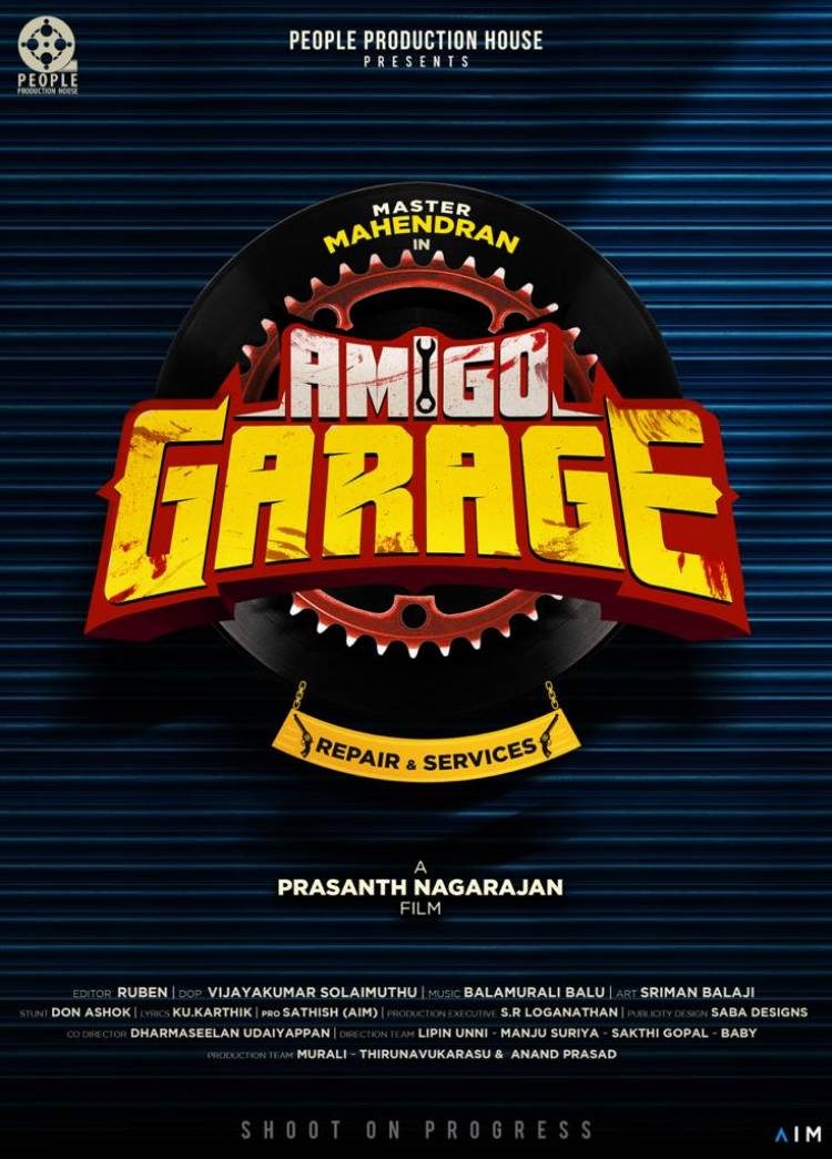 Here you go! @Actor_Mahendran Starring #AmigoGarage Title look