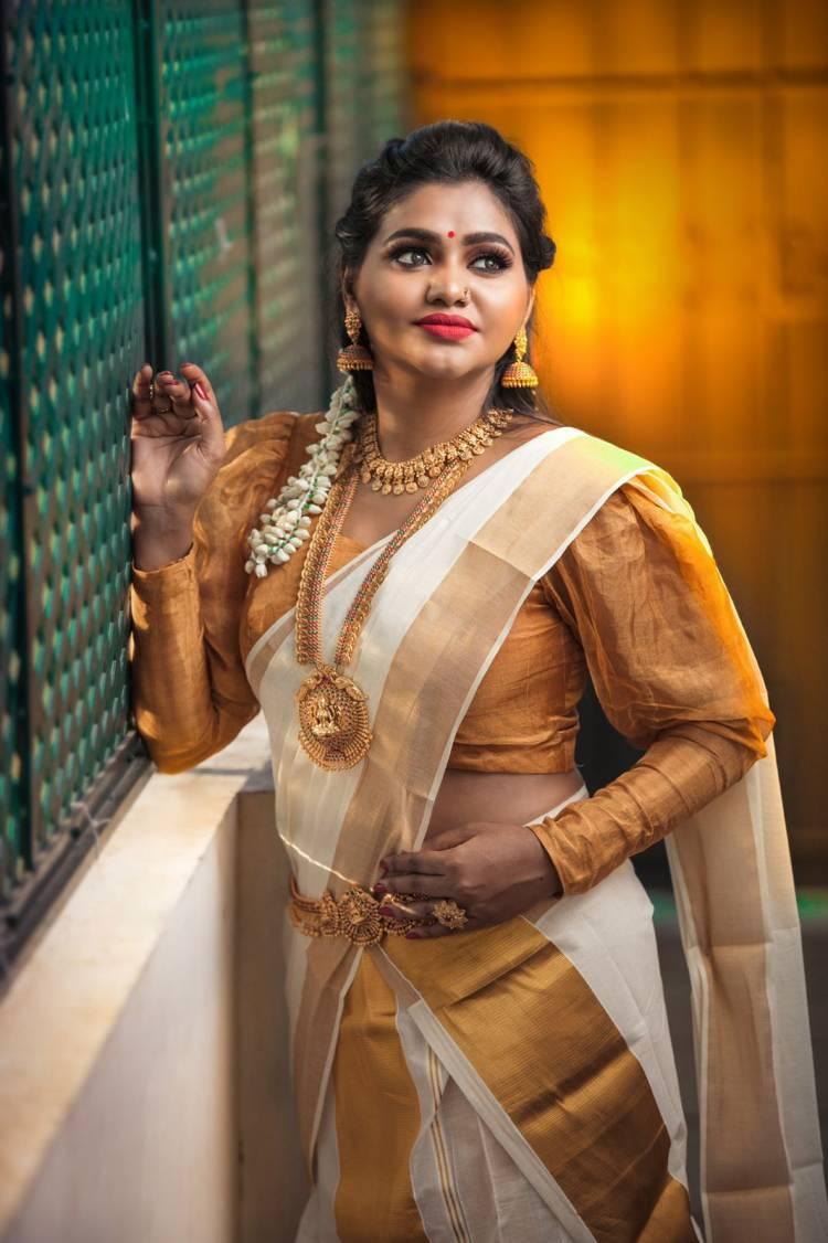 Actress #shalushamu #HappyOnam @shalushamu