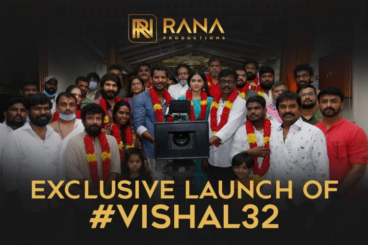"""""""Presenting you the exclusive launch & Pooja video of #Vishal32."""""""